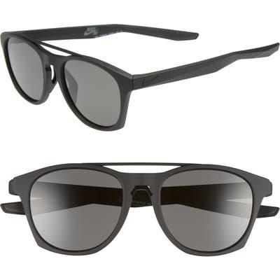 Nike Current 51Mm Sunglasses - Matte Black/ Dark Grey