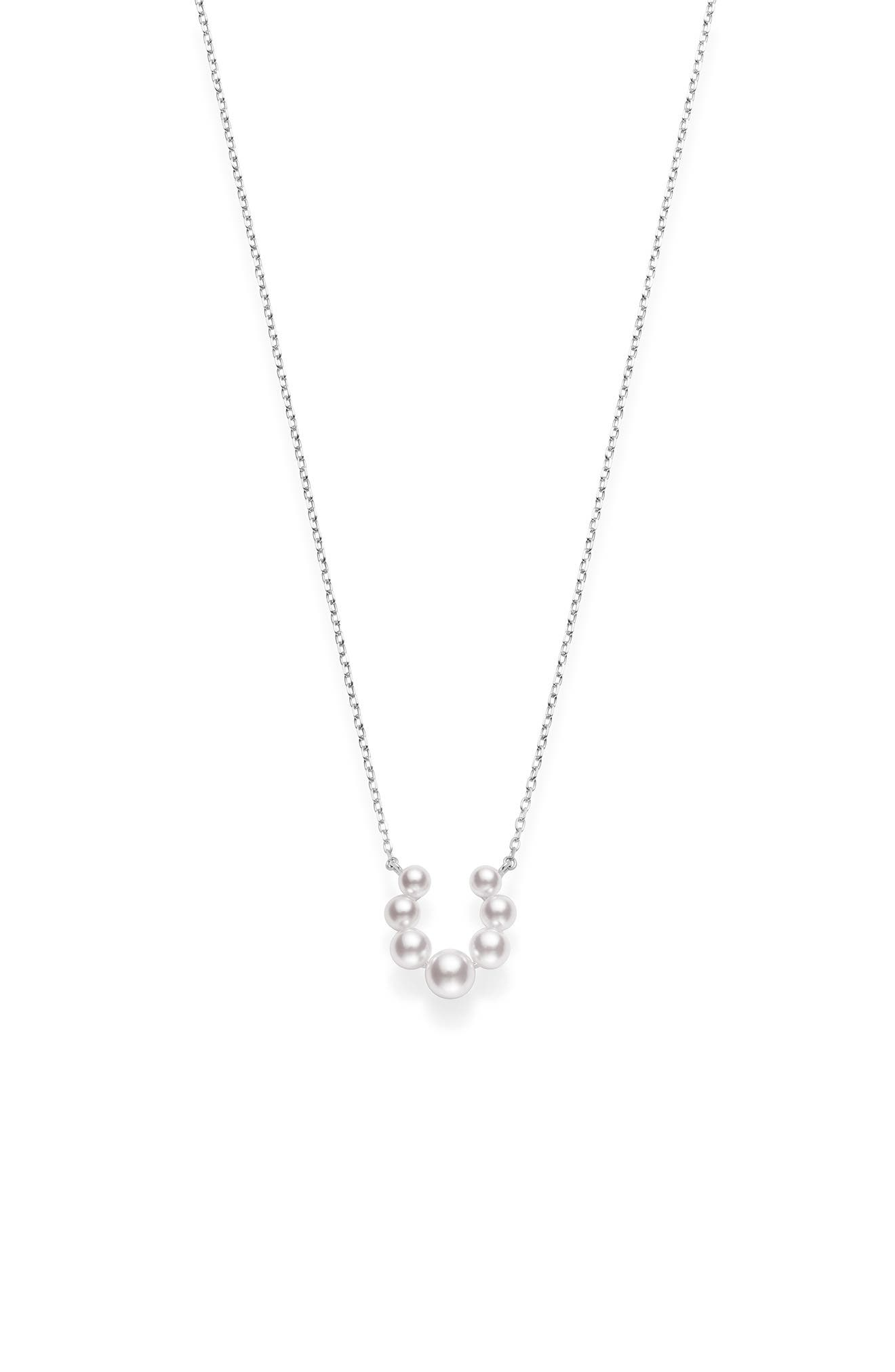 Akoya Pearl Cluster Necklace