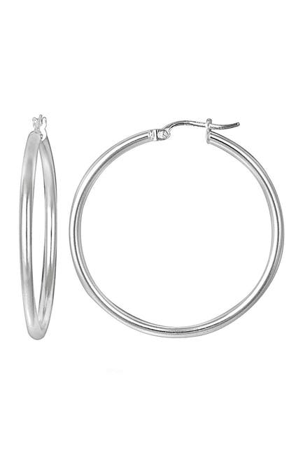 Image of Sterling Forever Sterling Silver 38mm Hoop Earrings