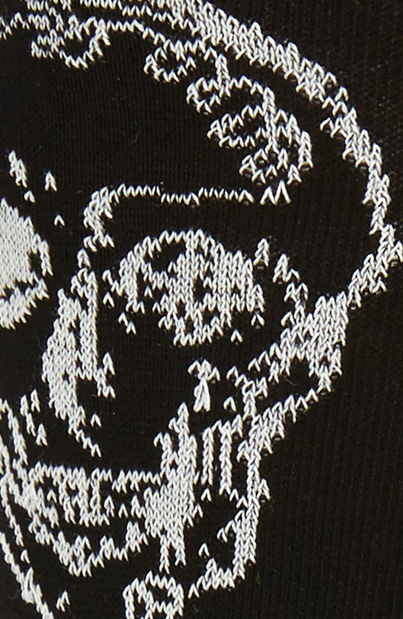 ,                             Graffiti Skull Socks,                             Alternate thumbnail 2, color,                             BLACK/ IVORY