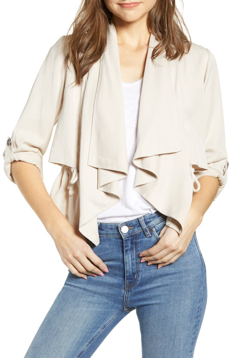 CUPCAKES AND CASHMERE Impala Drape Jacket, Main, color, 250