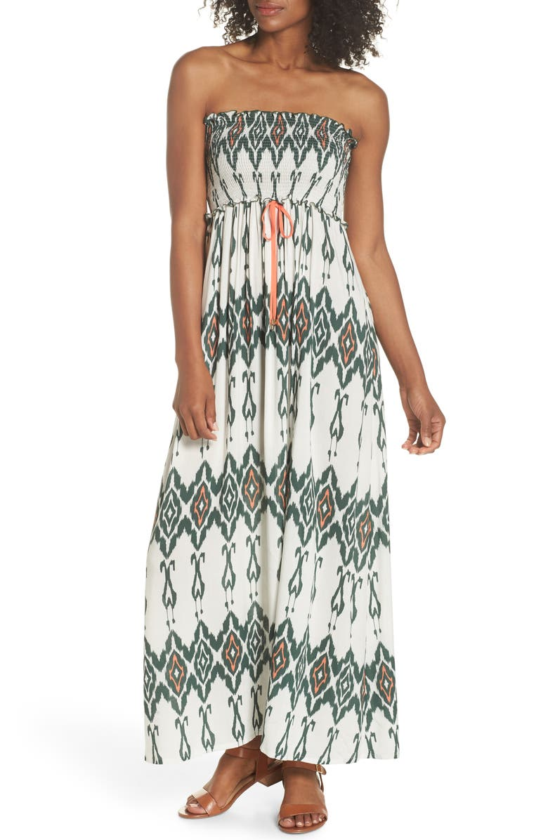 HEIDI KLEIN Smocked Cover-Up Maxi Dress, Main, color, 377