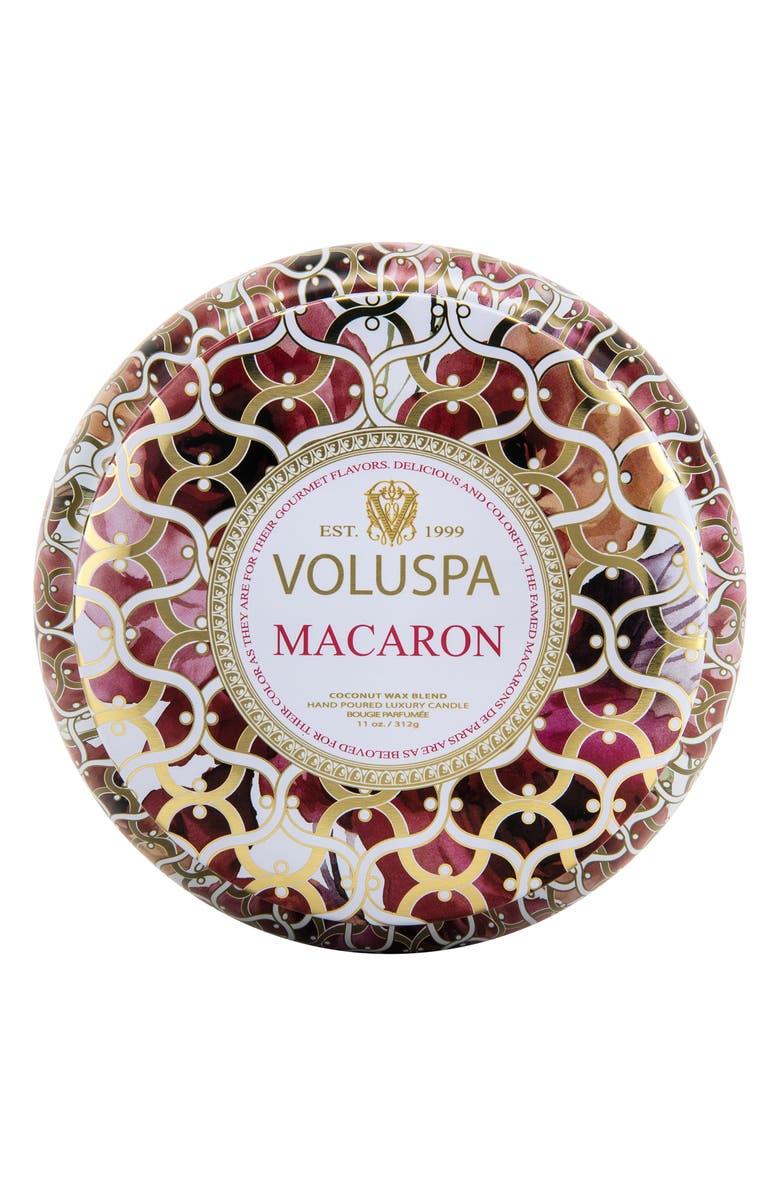 VOLUSPA Maison Blanc Macaron Maison Metallo Two-Wick Candle, Main, color, 000