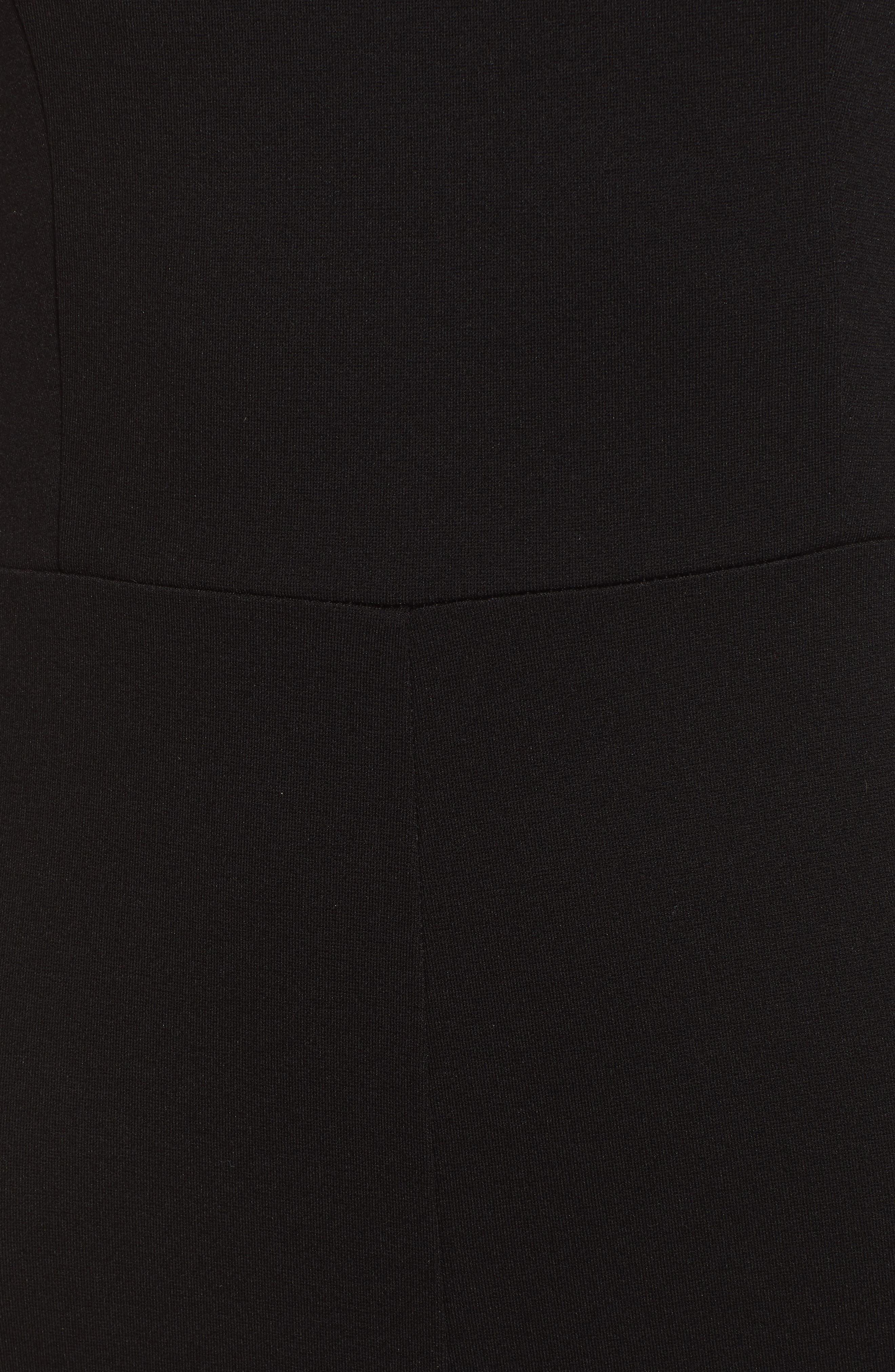 ,                             Crossback Jumpsuit,                             Alternate thumbnail 6, color,                             BLACK