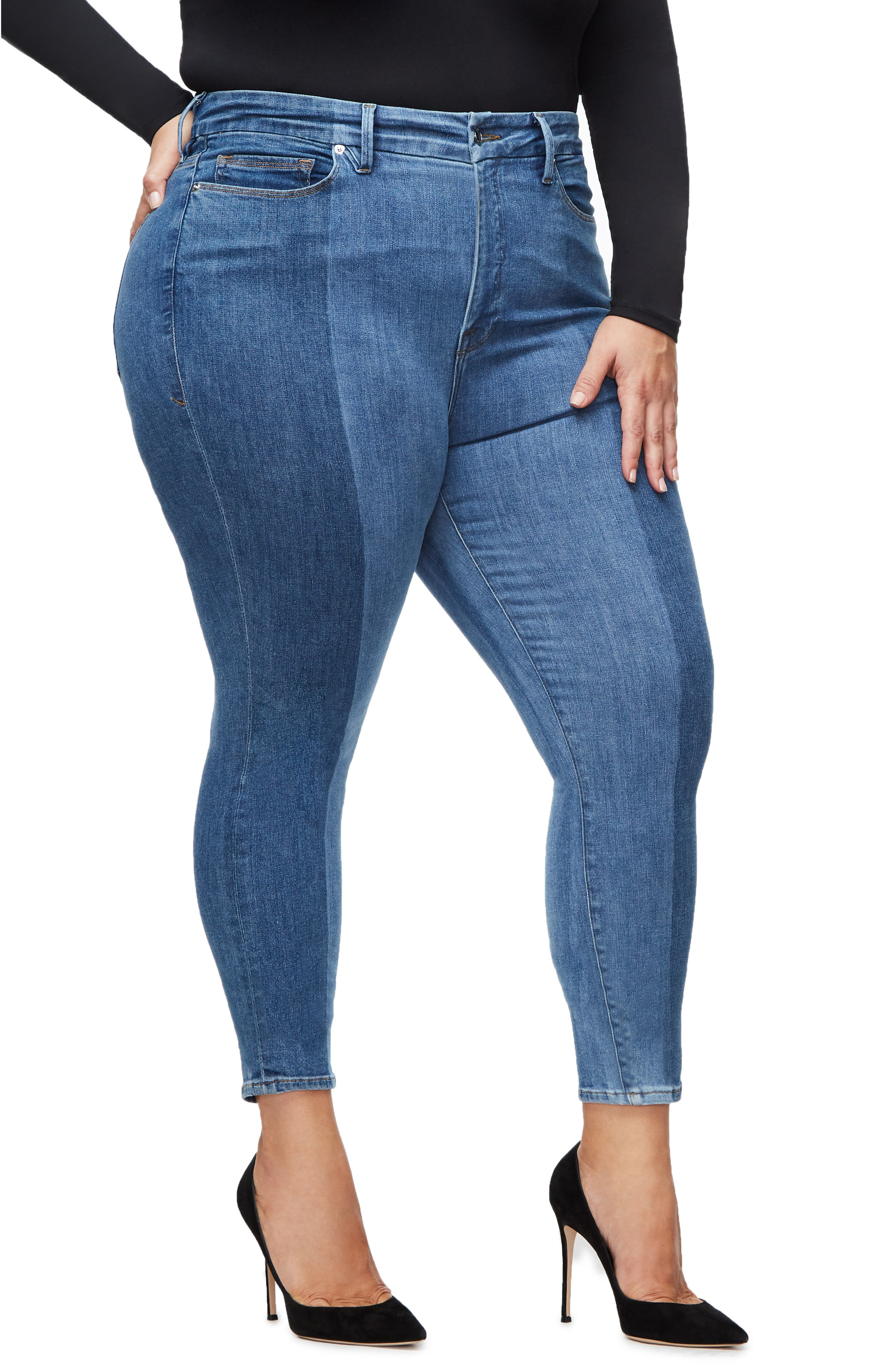 ,                             Good Legs Ankle Skinny Jeans,                             Alternate thumbnail 19, color,                             403