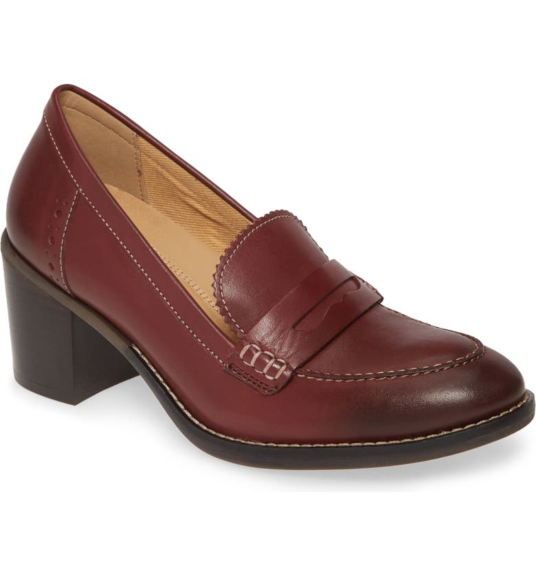 HUSH PUPPIES<SUP>®</SUP> Hannah Penny Pump, Main, color, CORDOVAN LEATHER
