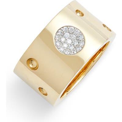 Roberto Coin Pois Moi Luna Pave Diamond Ring