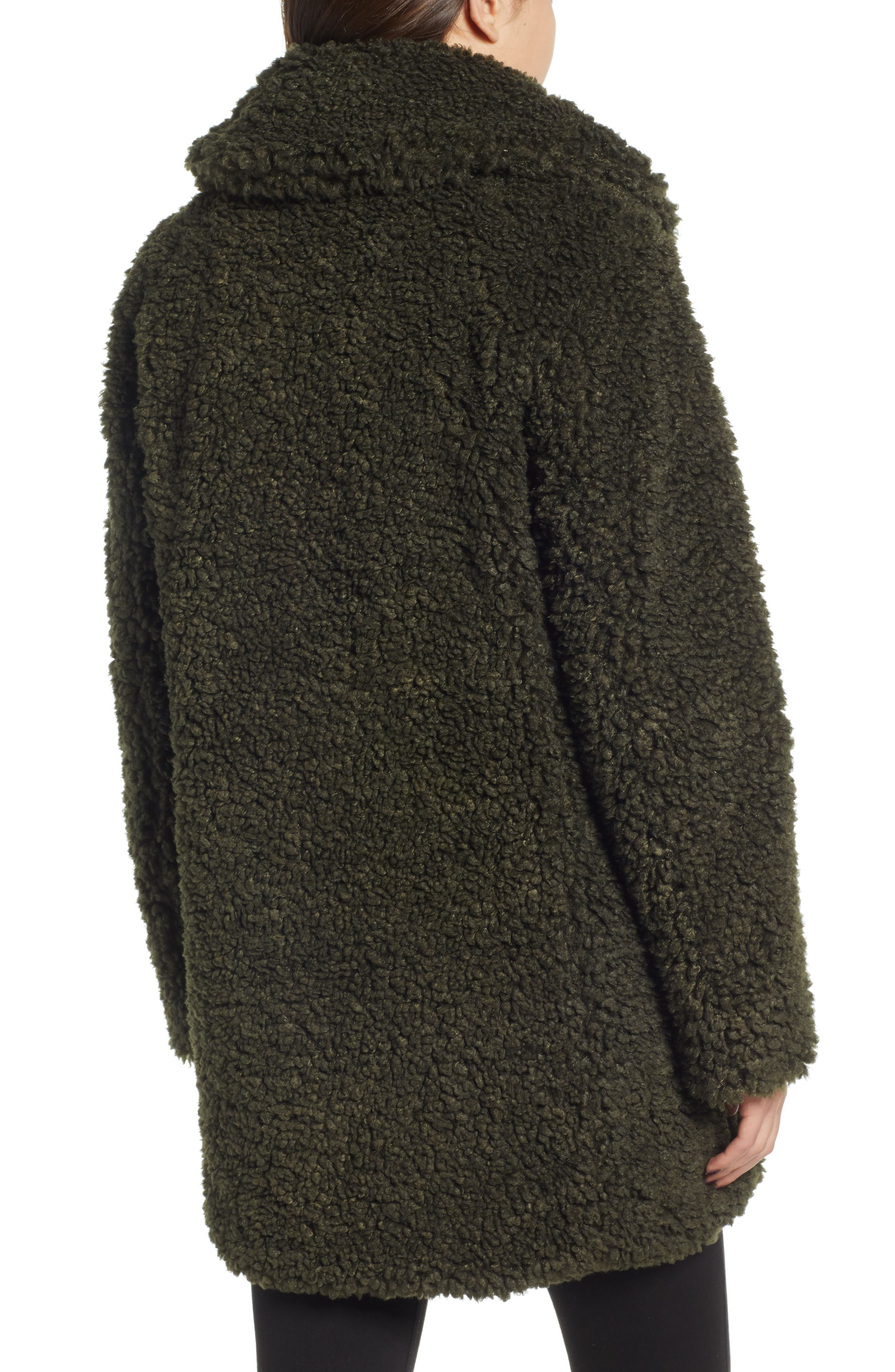 ,                             Faux Shearling Coat,                             Alternate thumbnail 2, color,                             300