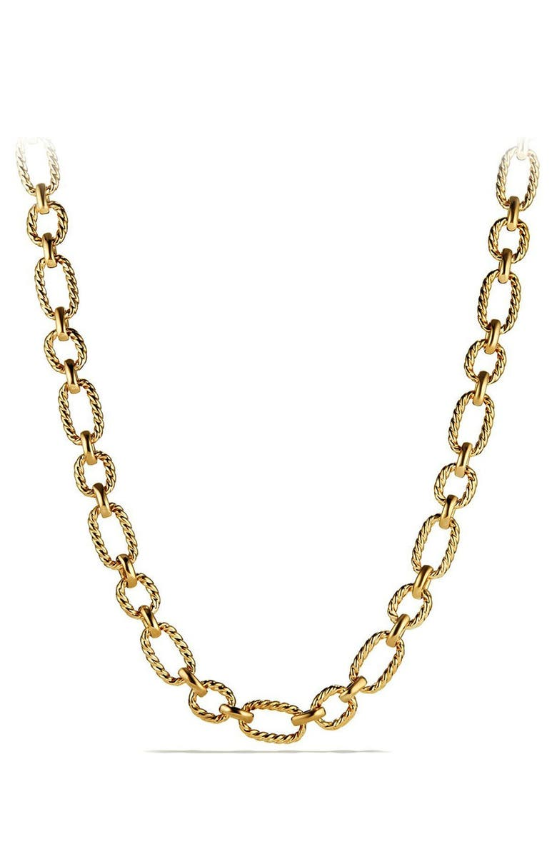 DAVID YURMAN Chain Link Necklace, Main, color, 710