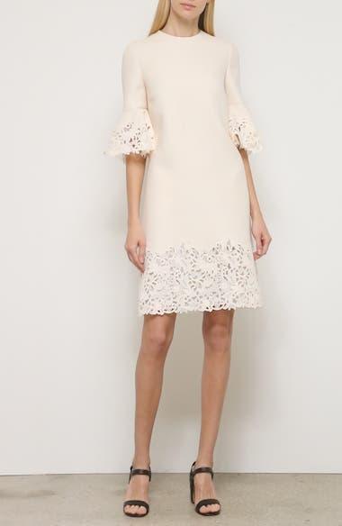 Lace Trim Wool & Silk Dress, video thumbnail