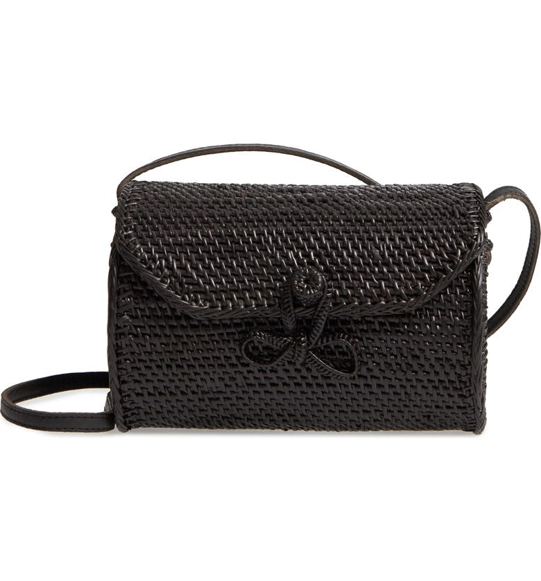 STREET LEVEL Cylinder Woven Crossbody Bag, Main, color, 001