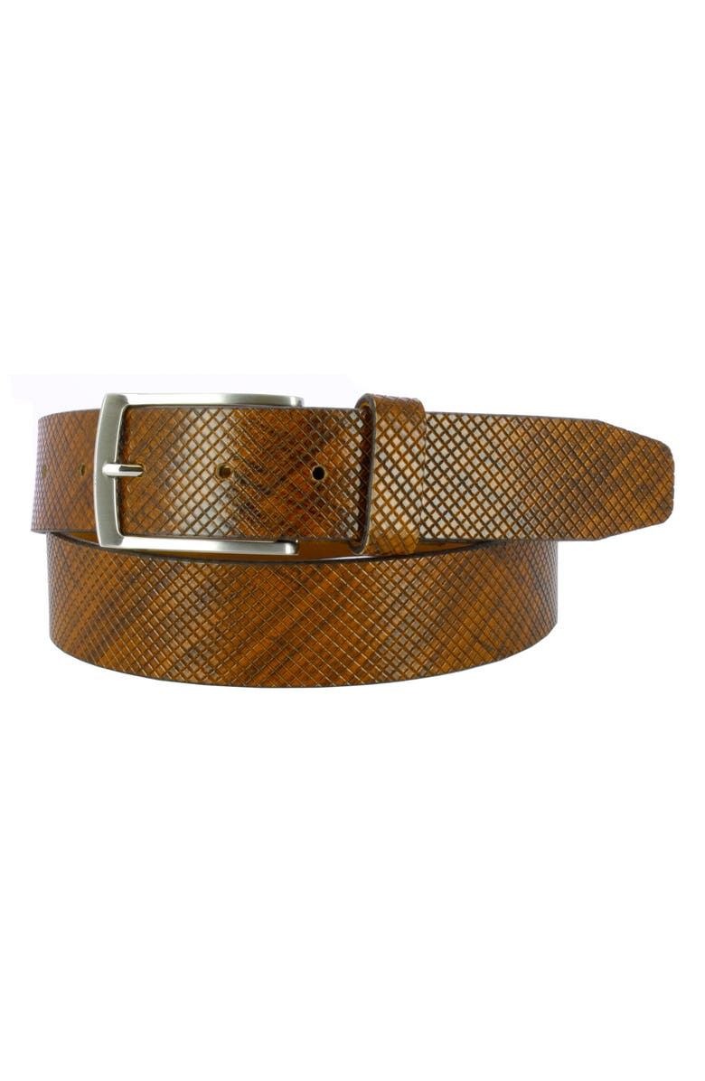 REMO TULLIANI Dodge Embossed Leather Belt, Main, color, 230