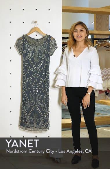 Illusion Neck Beaded Sheath Dress, sales video thumbnail