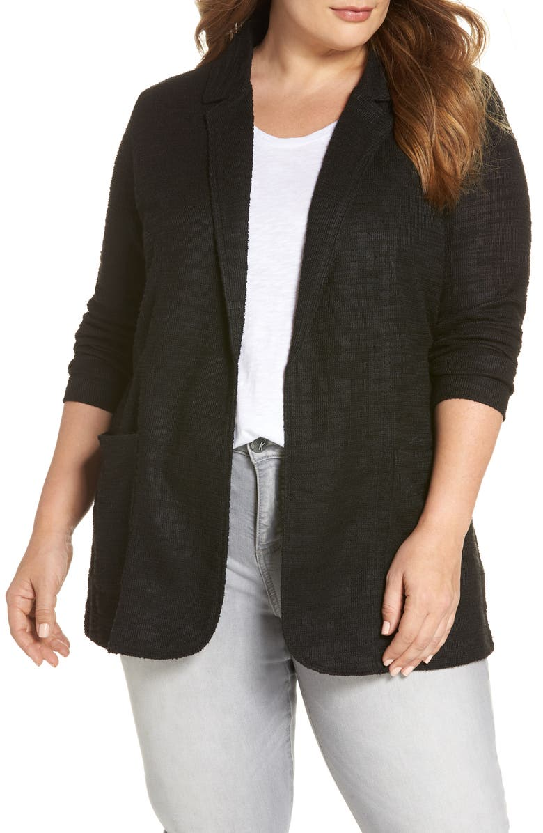 Caslon Knit Boyfriend Blazer Plus Size