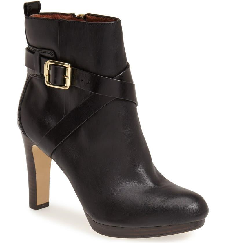 LOUISE ET CIE 'Labradora' Leather Platform Bootie, Main, color, Black