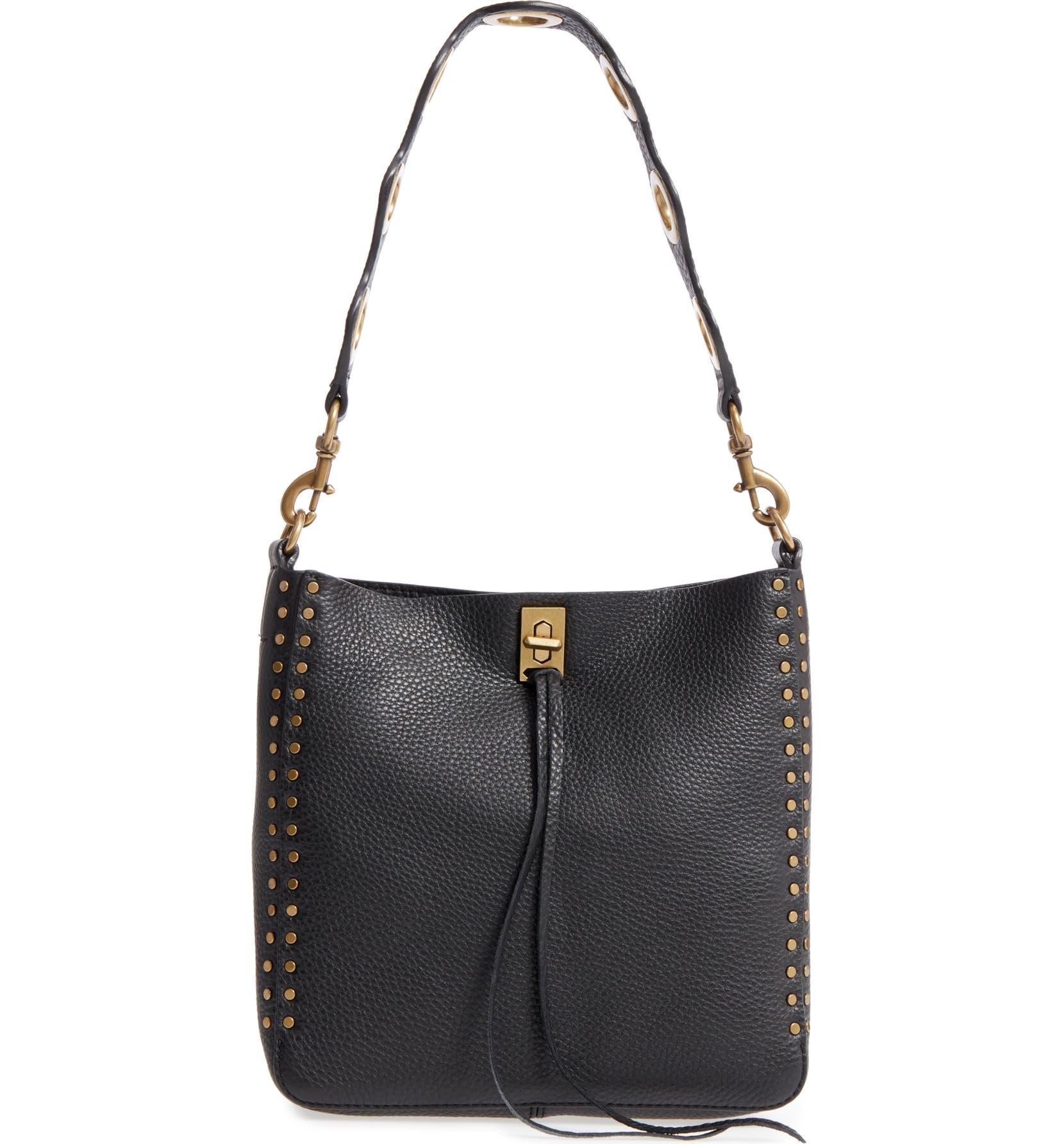 538326128 Rebecca Minkoff Small Darren Deerskin Leather Feed Bag | Nordstrom