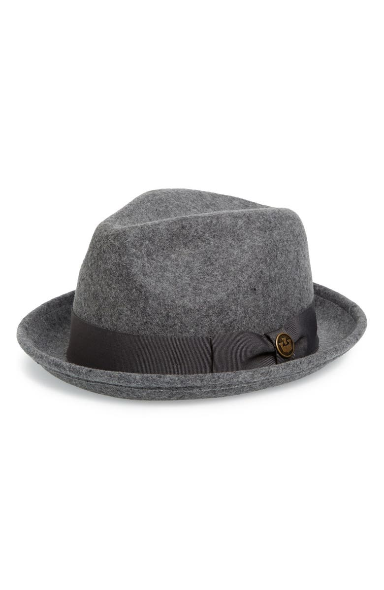 GOORIN BROS. The Good Boy Felt Wool Fedora, Main, color, GRAY