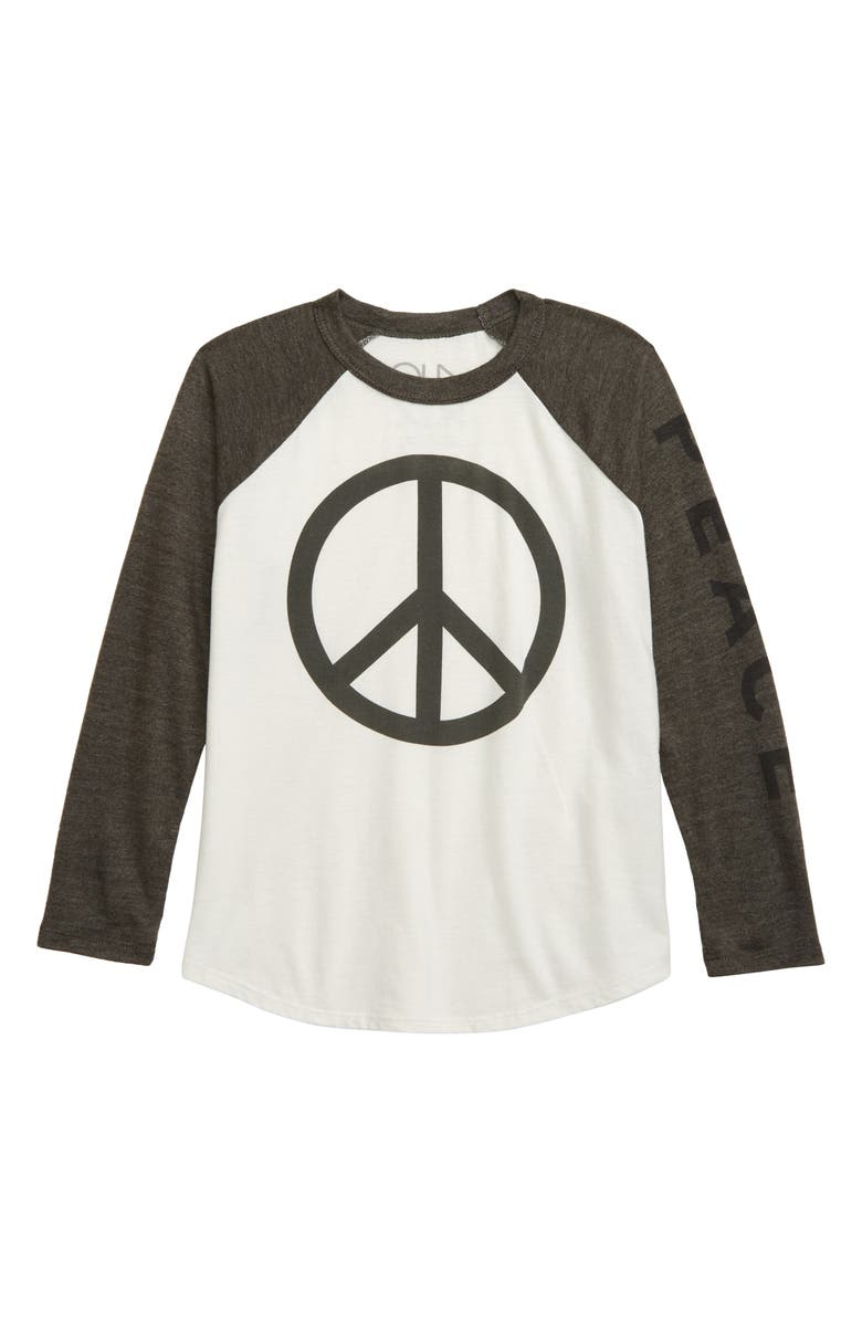 CHASER Peace Baseball Shirt, Main, color, SALT/ SAFARI