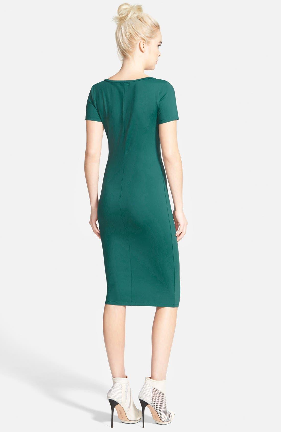 ,                             V-Neck Body-Con Dress,                             Alternate thumbnail 13, color,                             440