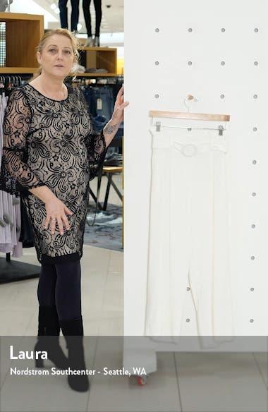 Belted Wide Leg Paperbag Waist Pants, sales video thumbnail