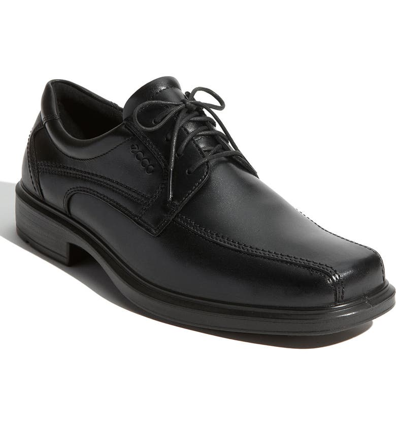 ECCO 'Helsinki' Square Bike Toe Oxford, Main, color, BLACK