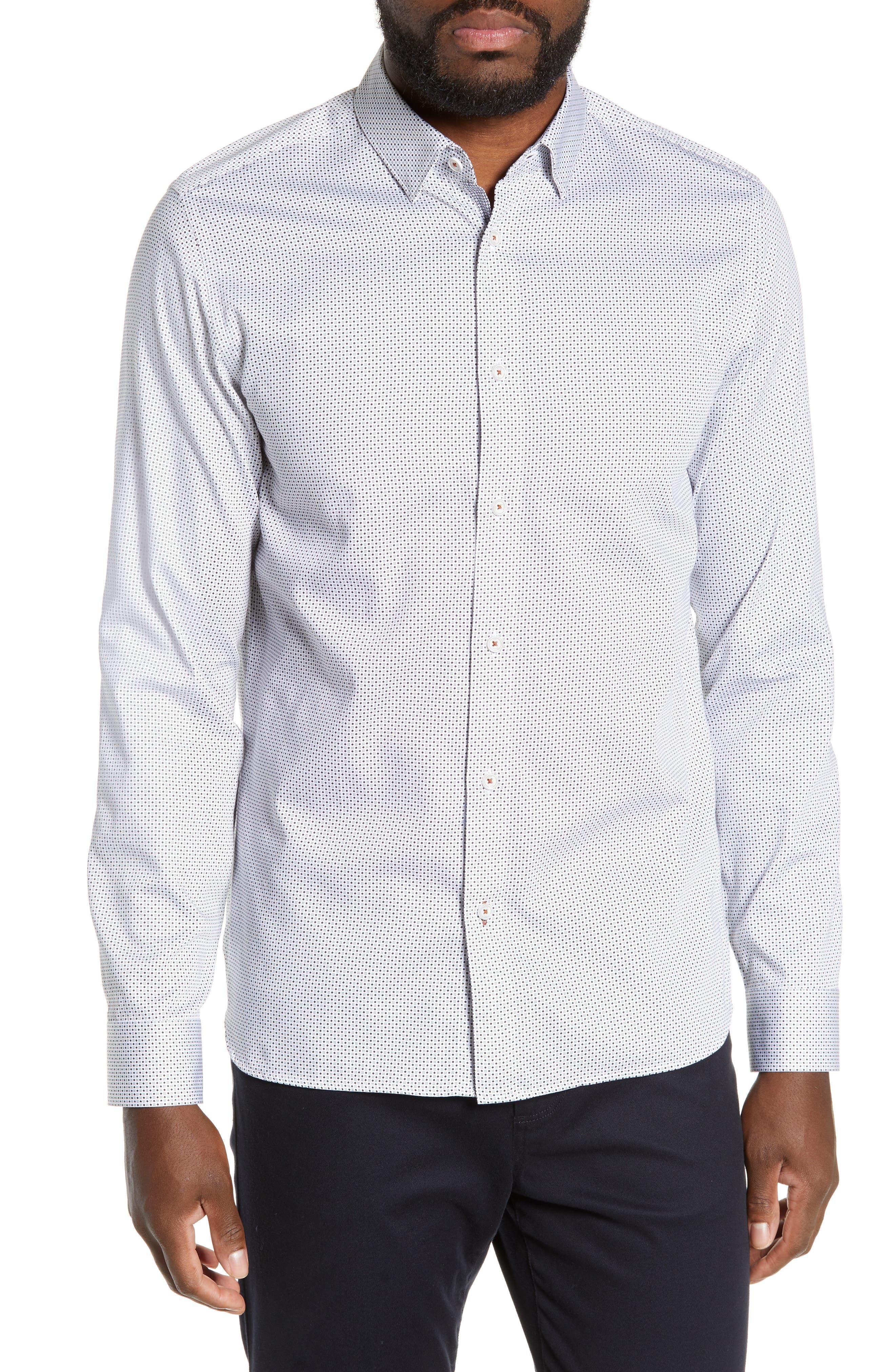 Subik Slim Fit Geo Print Sport Shirt, Main, color, 110