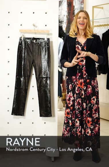 42f7817db6c04 ... Evelyn Skinny Lambskin Leather Pants, sales video thumbnail ...