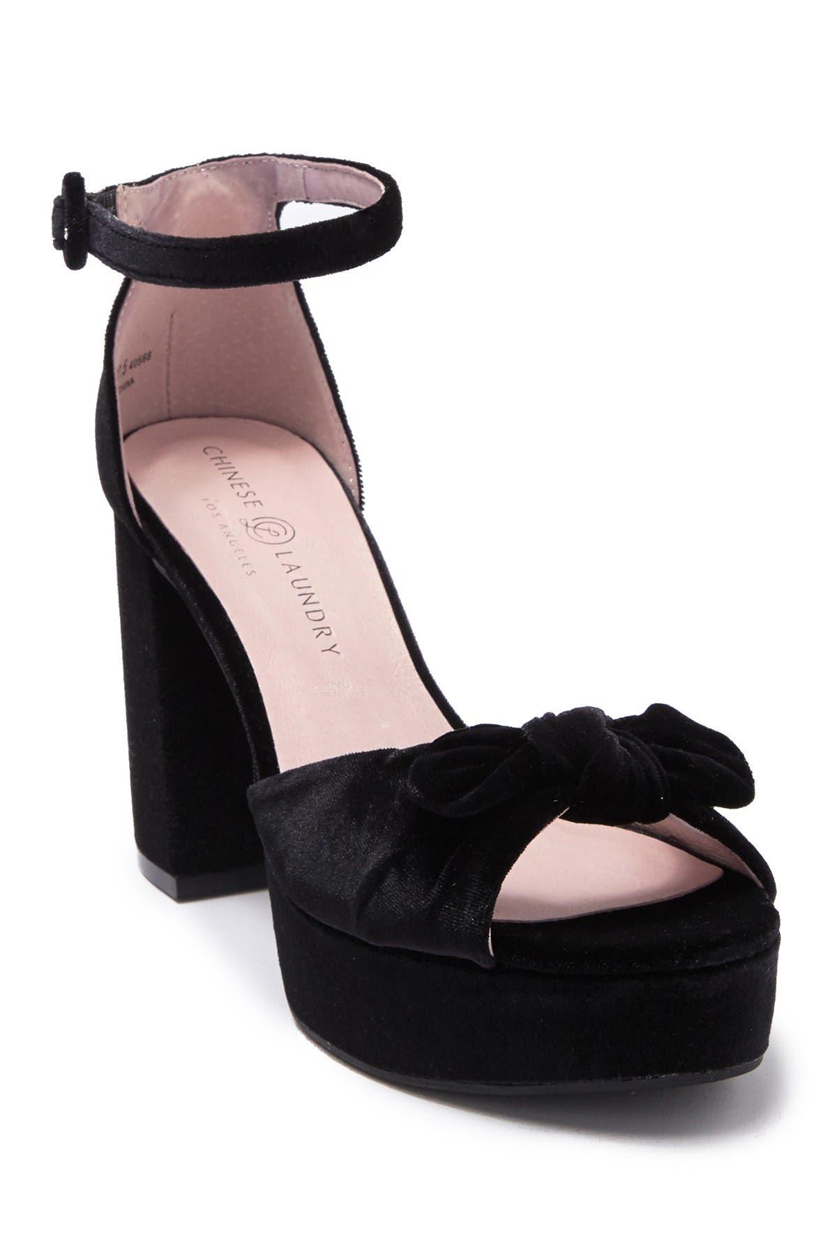Image of Chinese Laundry Tina Velvet Platform Sandal