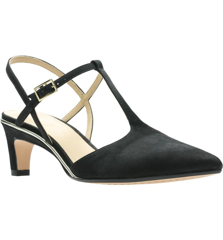 CLARKS<SUP>®</SUP> Ellis Lola T-Strap Pump, Main, color, 001