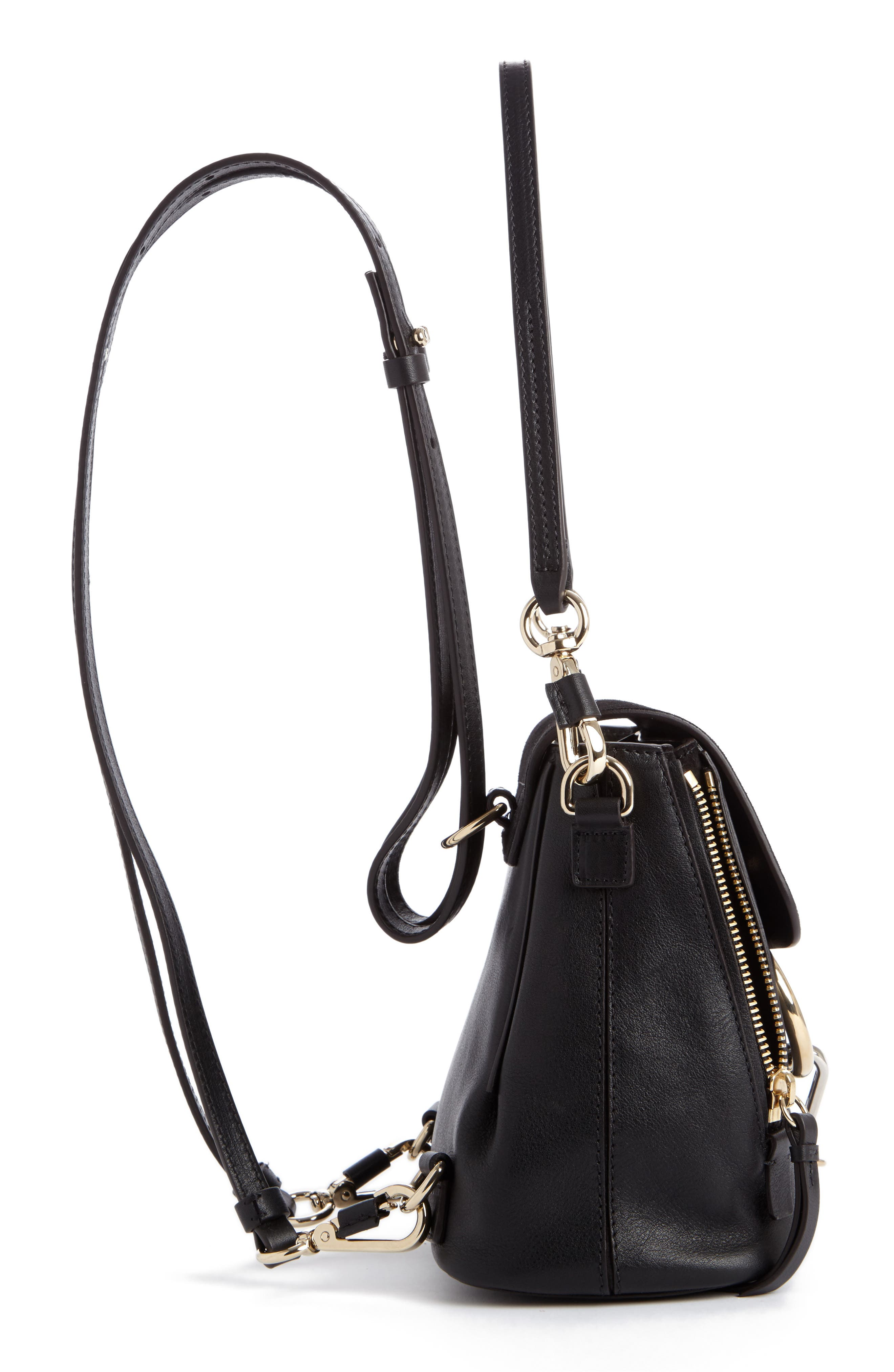 ,                             Mini Faye Leather & Suede Backpack,                             Alternate thumbnail 18, color,                             001