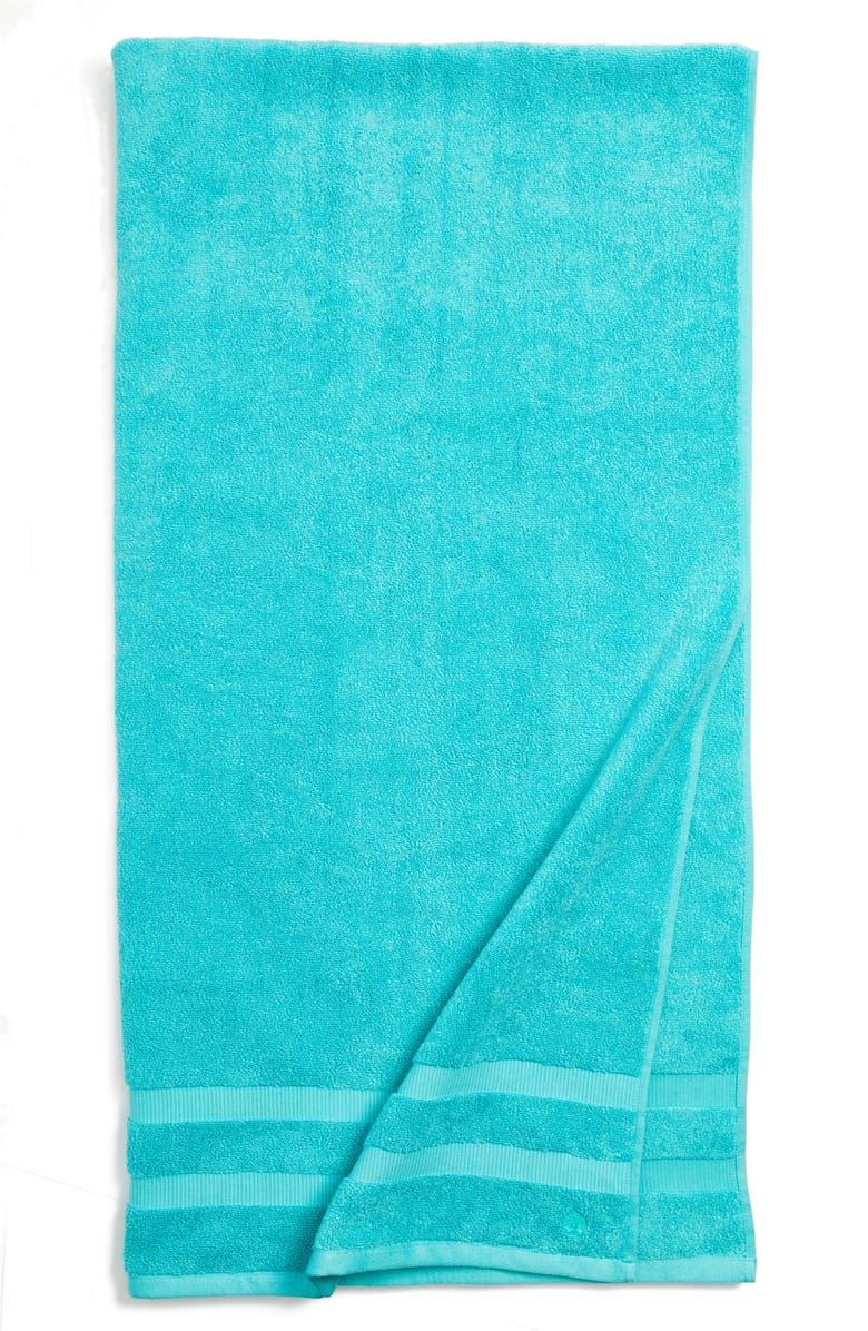 KATE SPADE NEW YORK 'chattam' stripe bath sheet, Main, color, POOLSIDE