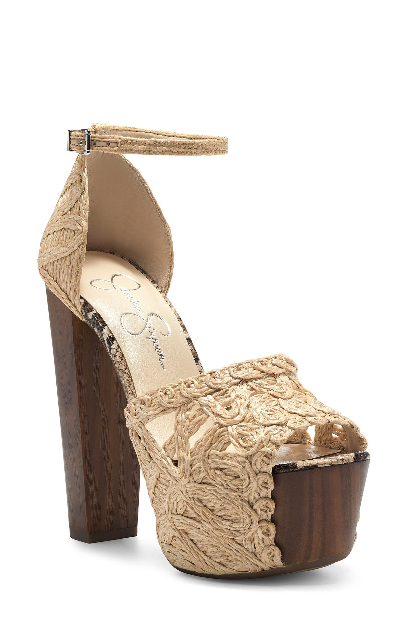 Dessie Woven Platform Sandal