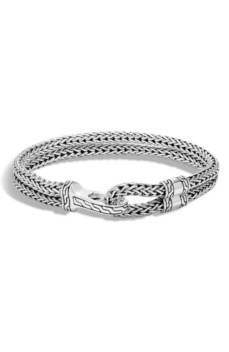 JOHN HARDY Hook Clasp Classic Chain Bracelet, Main, color, SILVER