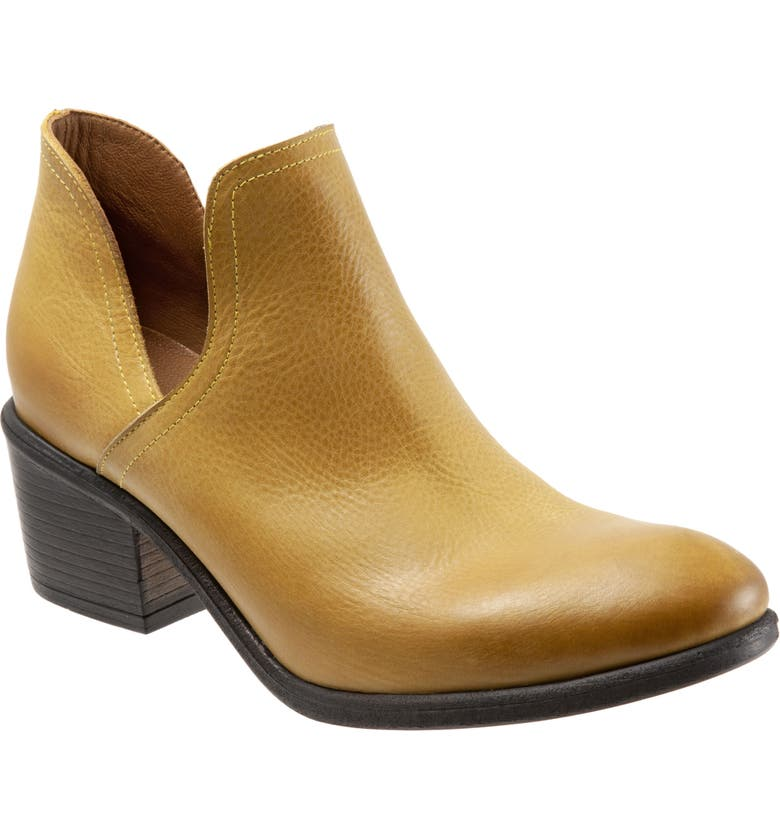 BUENO Dylan Cutout Bootie, Main, color, YELLOW LEATHER