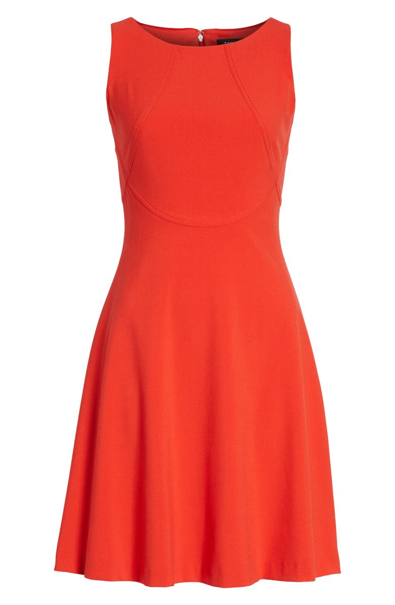 TAHARI Seamed Knit Fit & Flare Dress, Main, color, 649
