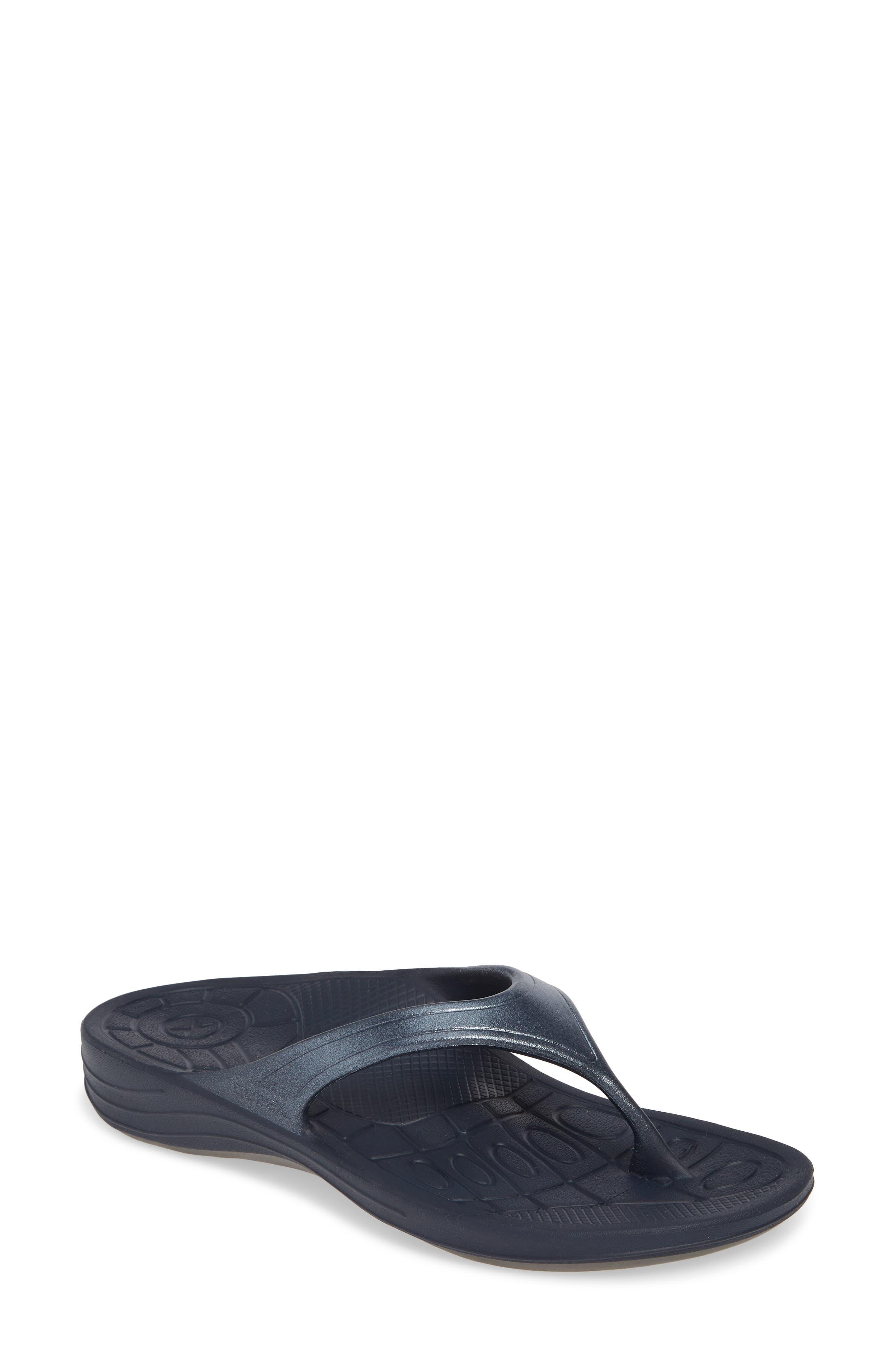 Aetrex Fiji Flip Flop, Blue