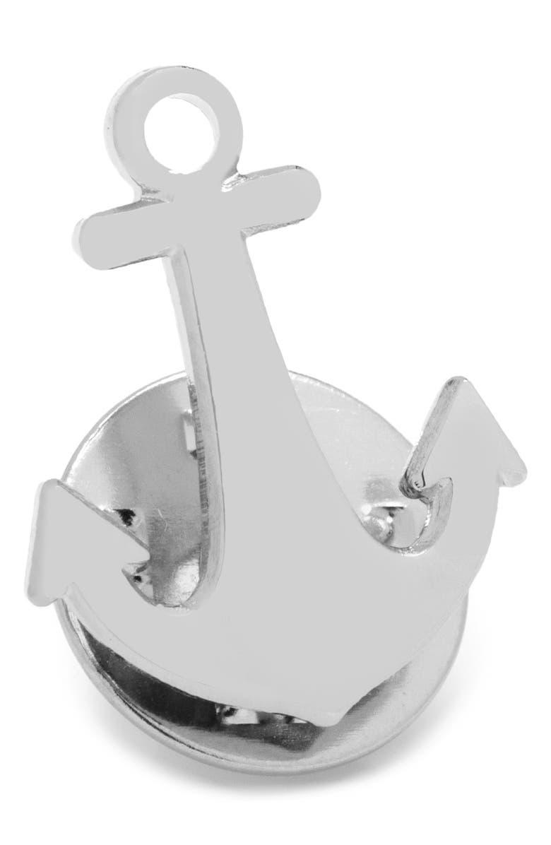 CUFFLINKS, INC. Anchor Lapel Pin, Main, color, SILVER