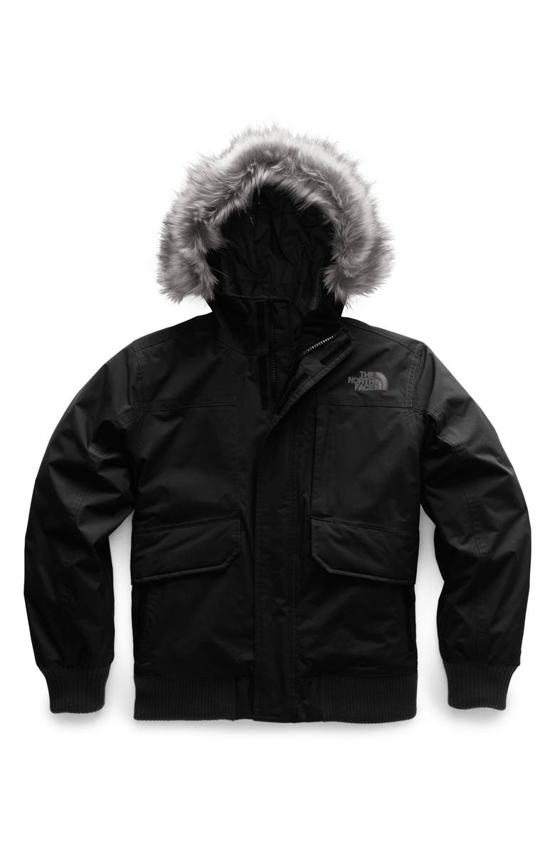 THE NORTH FACE Gotham Hooded Waterproof 550-Fill Power Down Jacket, Main, color, BLACK/BLACK