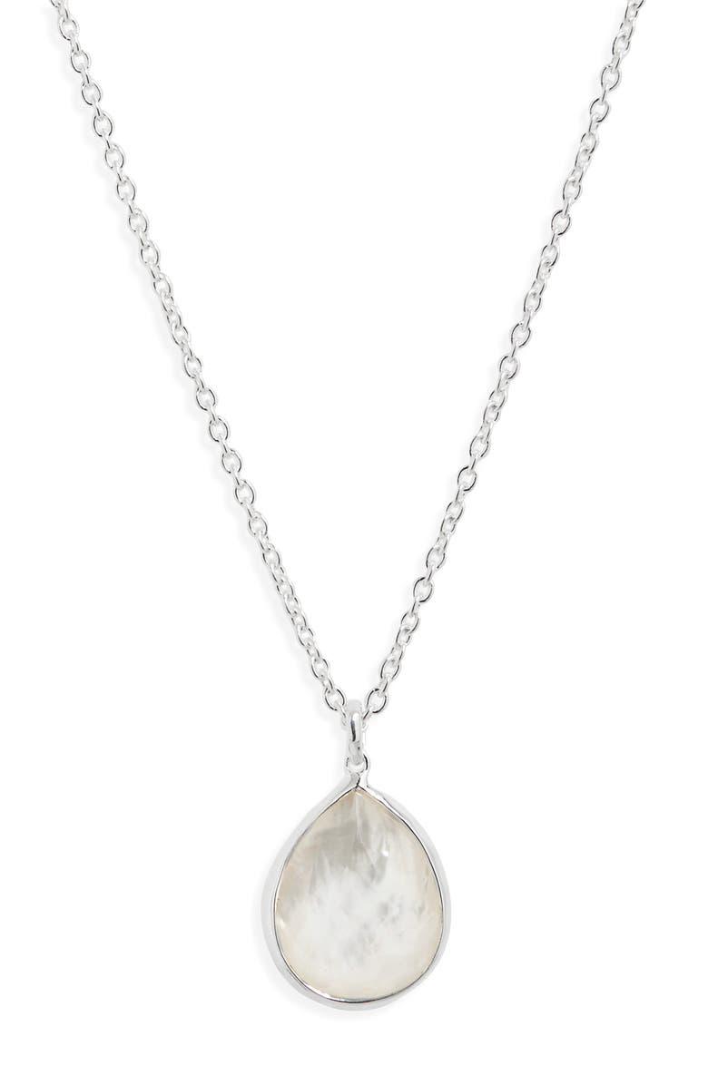 IPPOLITA 'Wonderland' Mini Teardrop Pendant Necklace, Main, color, MOTHER OF PEARL