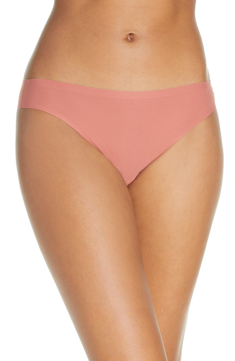 CHANTELLE LINGERIE Soft Stretch Thong, Main, color, CANYON