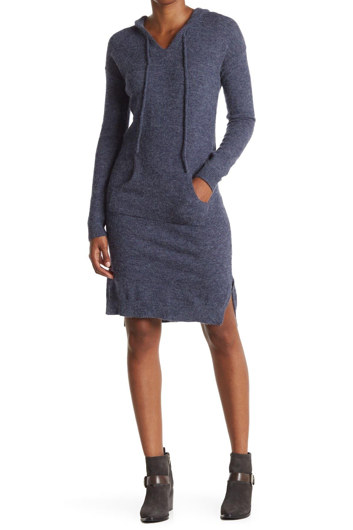 Image of STITCHDROP Joey Hi-Low Midi Hoodie Sweater Dress