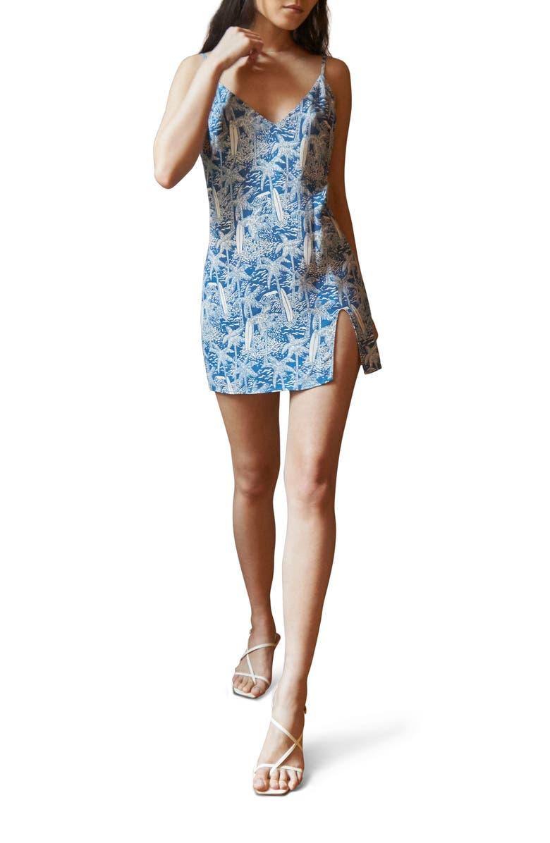REFORMATION Marlowe Sleeveless Minidress, Main, color, BALI