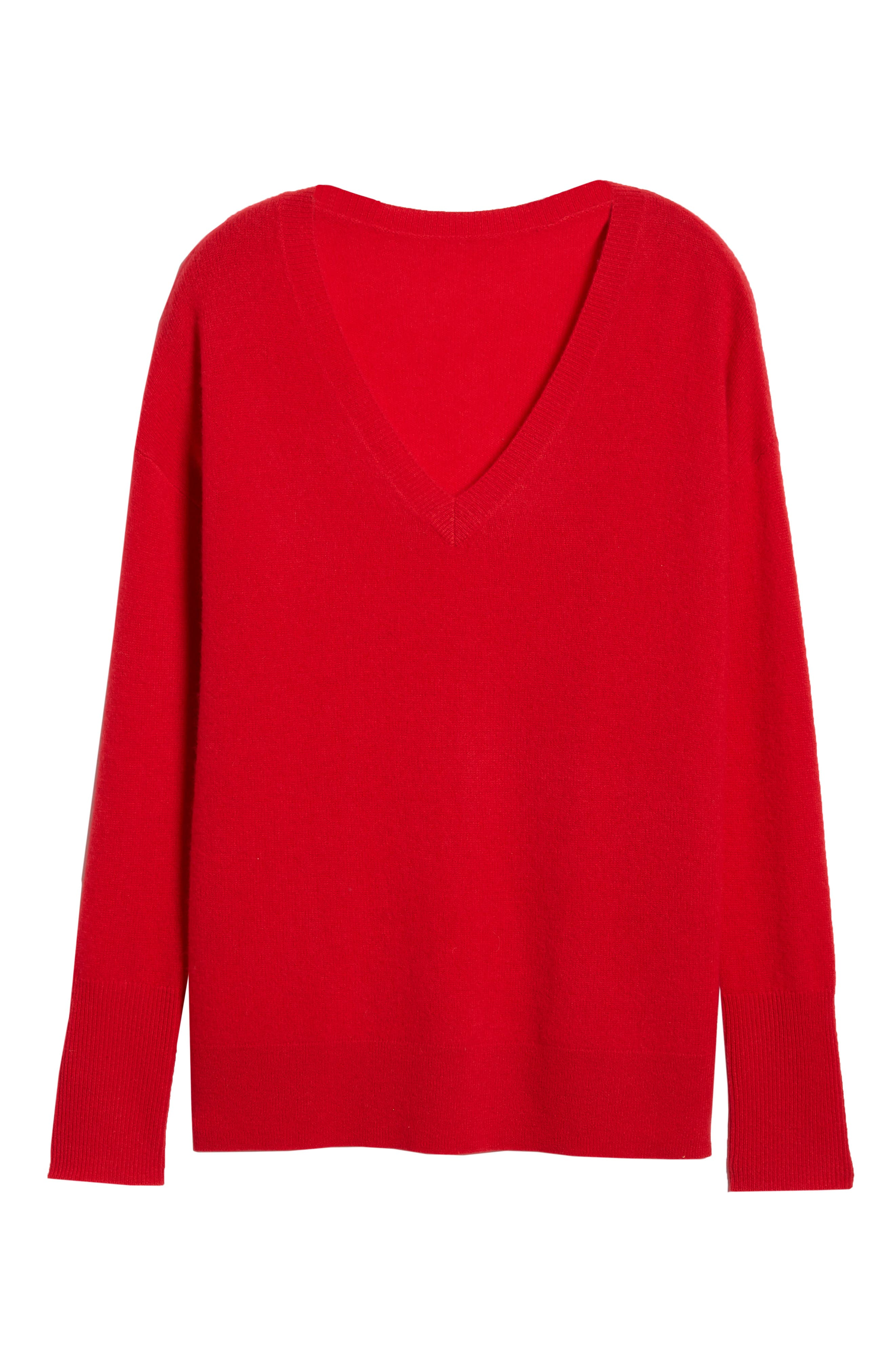 ,                             Relaxed V-Neck Cashmere Sweater,                             Alternate thumbnail 62, color,                             610
