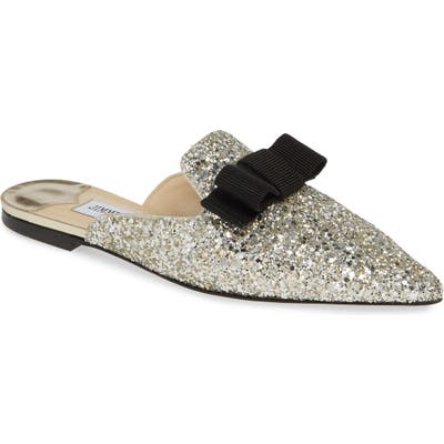 Jimmy Choo Galaxy Bow Mule, Metallic