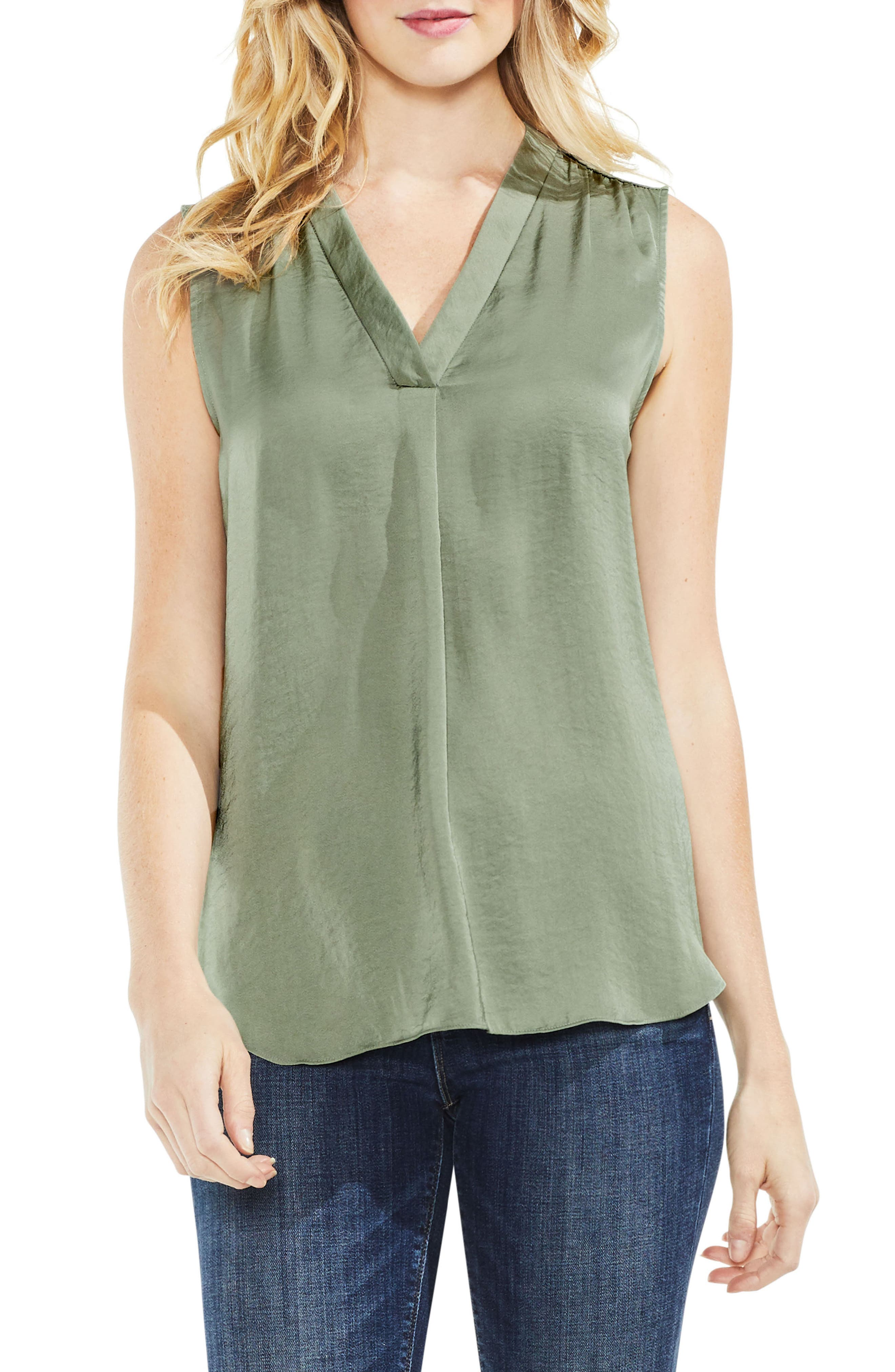 ,                             Rumpled Satin Blouse,                             Main thumbnail 145, color,                             335