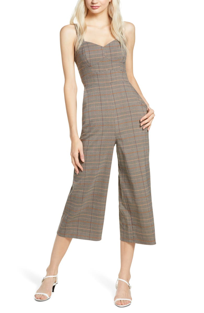 ALI & JAY Old Fashioned Plaid Jumpsuit, Main, color, RUST