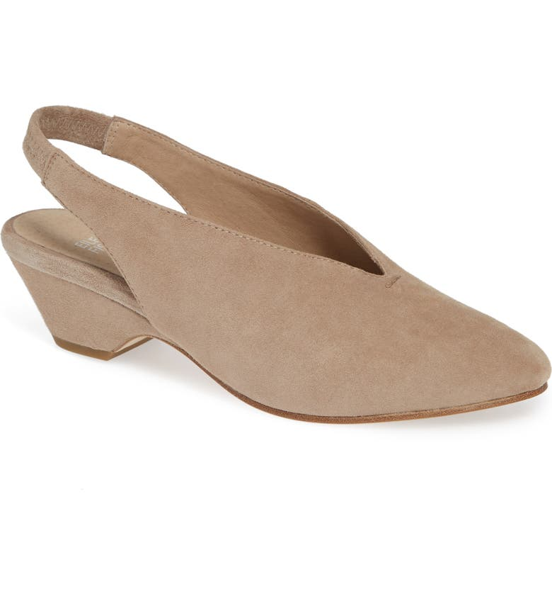 EILEEN FISHER Gatwick Slingback Pump, Main, color, EARTH SUEDE