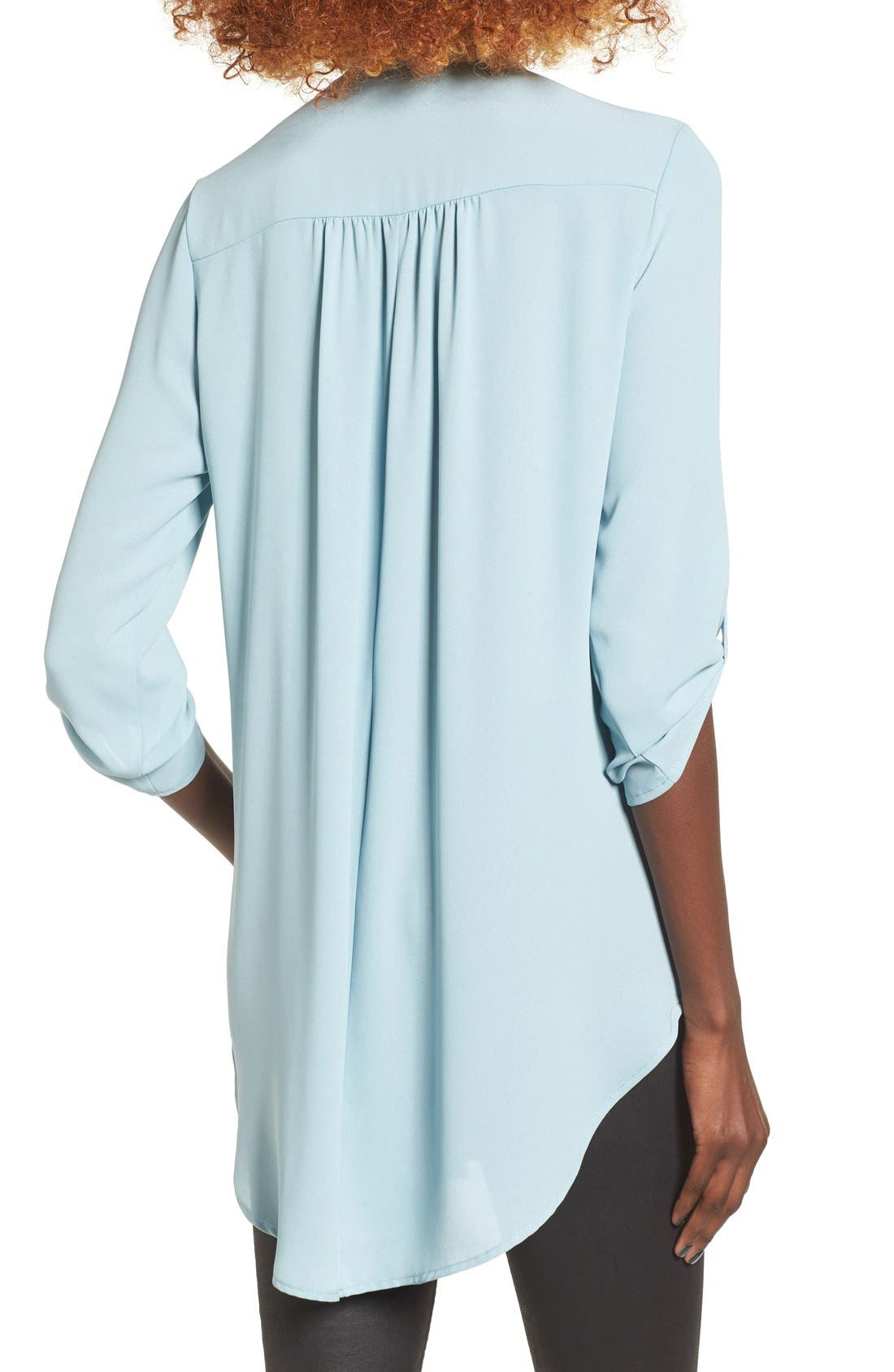 ,                             Perfect Roll Tab Sleeve Tunic,                             Alternate thumbnail 199, color,                             021
