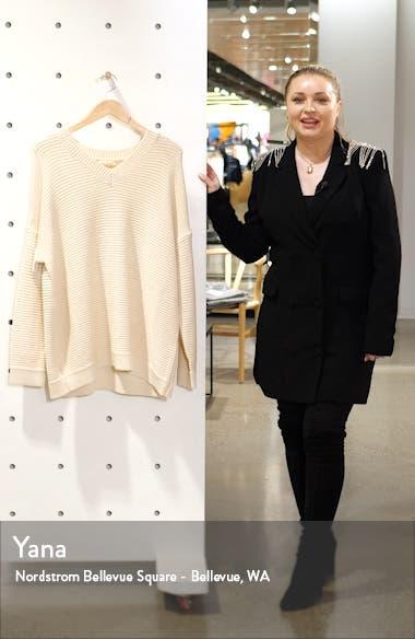 Organic Cotton Blend V-Neck Sweater, sales video thumbnail