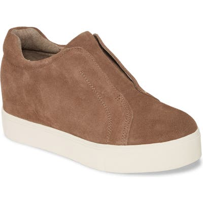 Jslides Starr Platform Slip-On Sneaker, Brown
